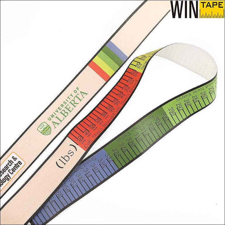Medical Device Printed PVC Animal Pig Weight Measuring Tape