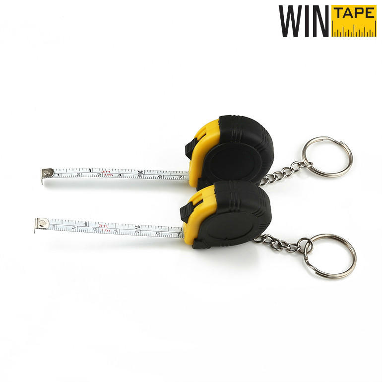1M Mini Rubber Cover Steel Tape Measure