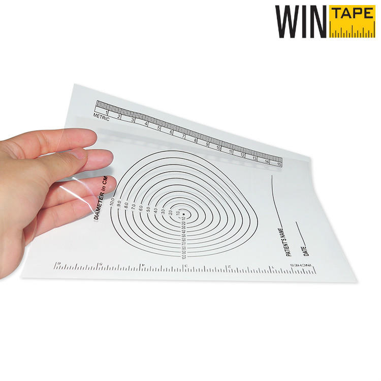 Custom Bullseye Plastic Wound Ruler