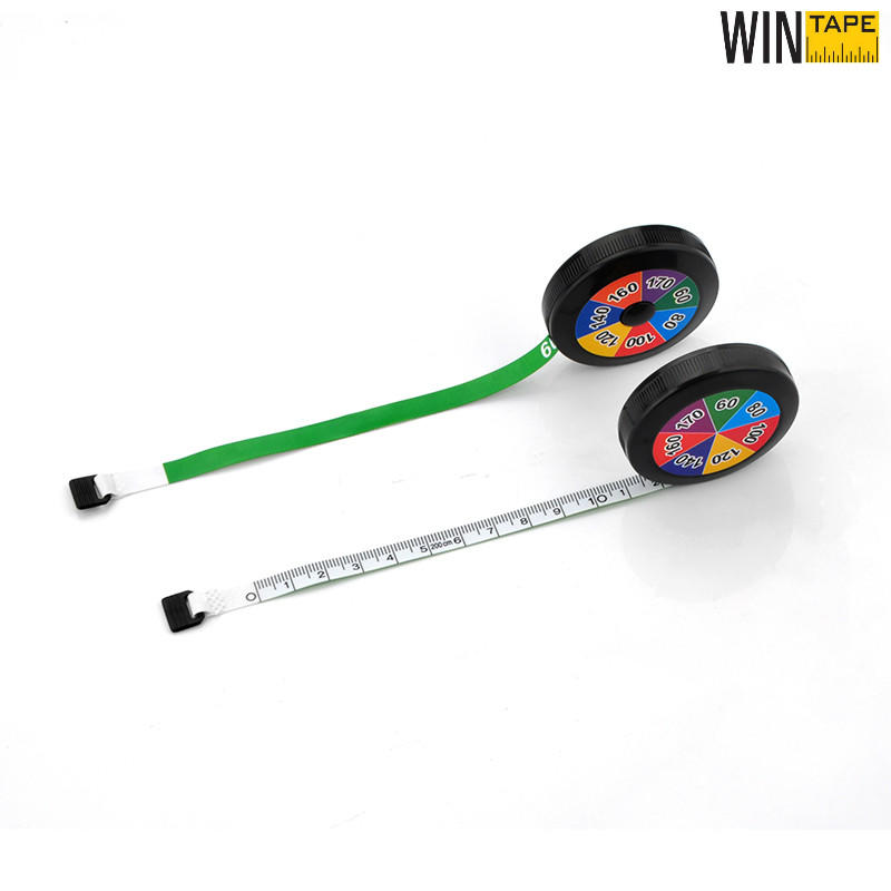 2M Custom CYMK Printing Mini Round Measuring Tape
