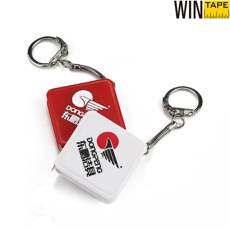 Mini Retractable Steel  Measuring Tape Keychains Pocket Size