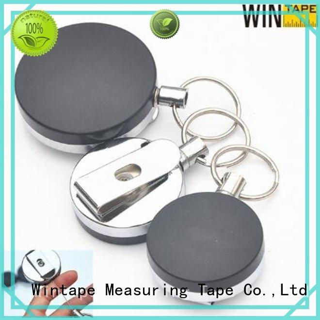 metal card retractable reel retractable badge reel Wintape