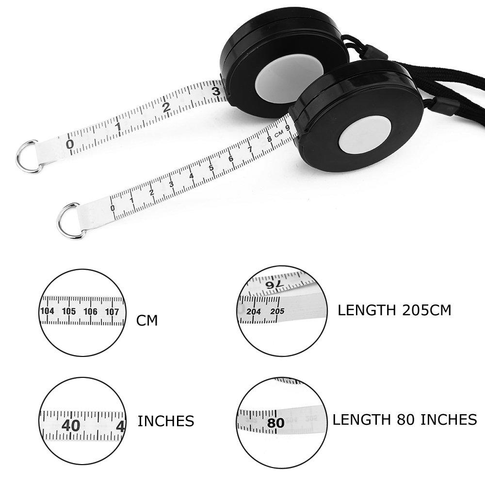 Black Retractable Tape Measure with Black Rope