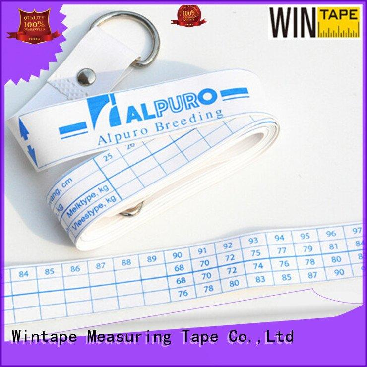 Wintape weighing printed logo horse height measuring tape weight