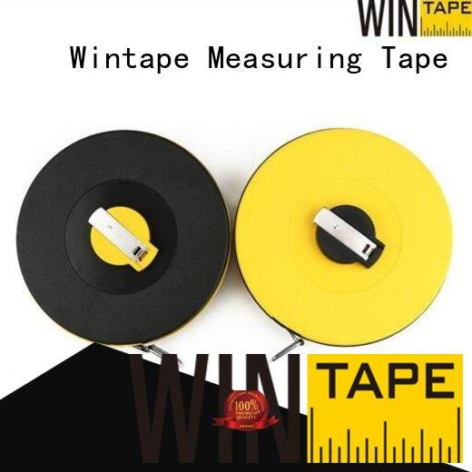 Wintape closedreel surveyors steel tape measure record wound date for home
