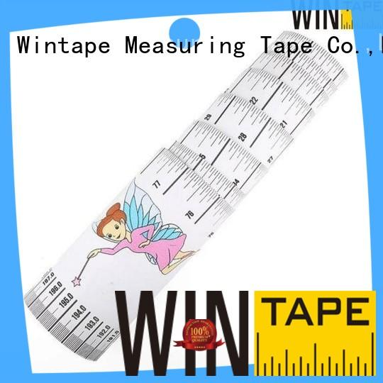 Wintape inexpensive wall mounted height measure gradely for children