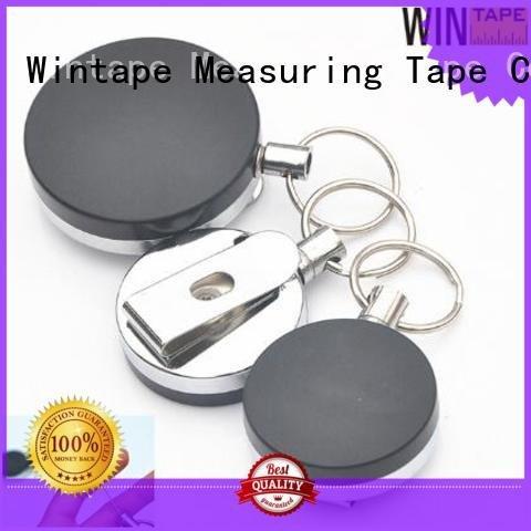 Wintape metal badge reel card retractable plastic holder