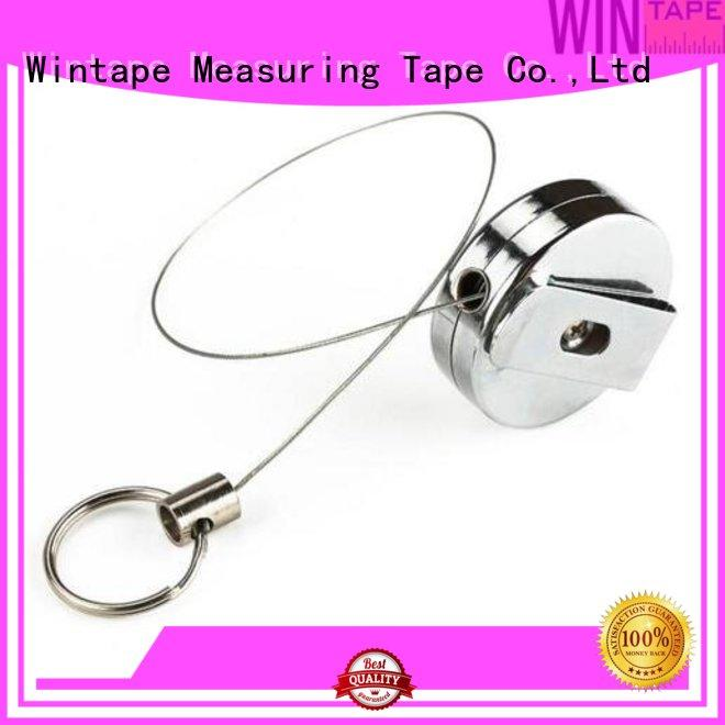 plastic retractable metal retractable badge reel Wintape Brand
