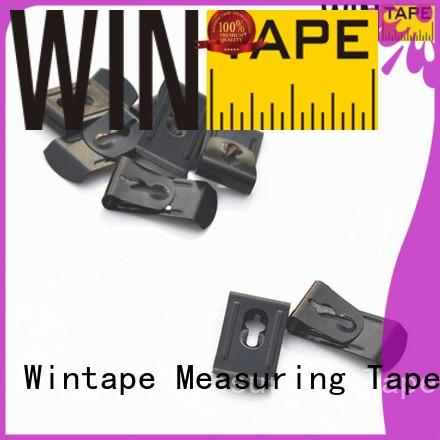 Hot customized tape measure belt clip stainless tape Wintape Brand