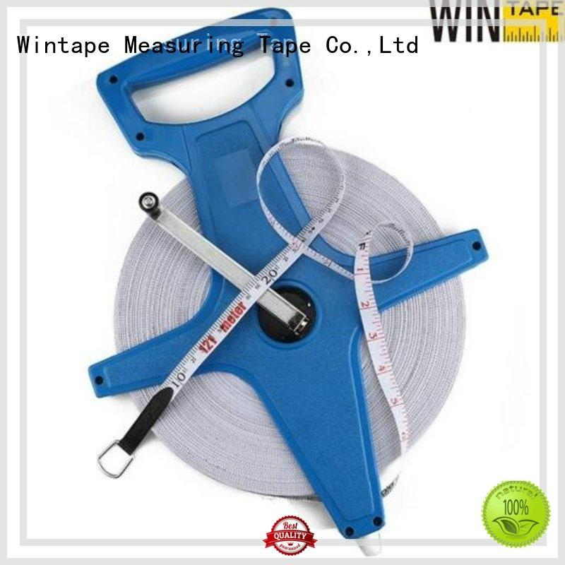 Custom measure fiberglass surveyors steel tape measure Wintape 30meter
