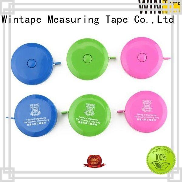 Wintape brown keyring tape measure keychain measure for factory