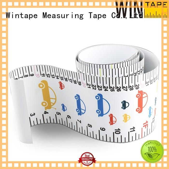 growth Custom paper high quality height measuring tape for wall Wintape measuring