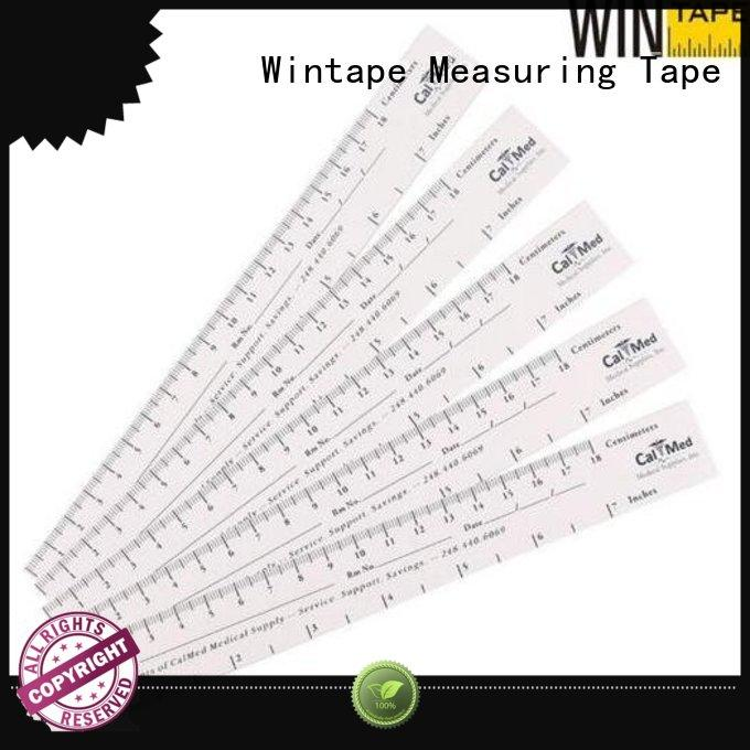 Wintape inexpensive wound measurement tool record wound length for hospital