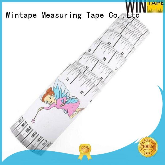 Wintape Brand growth height height measuring tape for wall tape factory