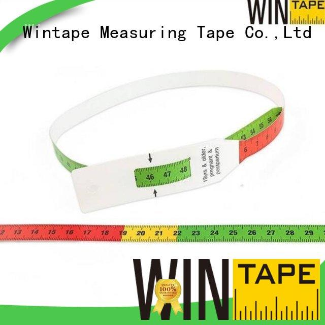 Custom midupper design head circumference measuring tape Wintape measuring