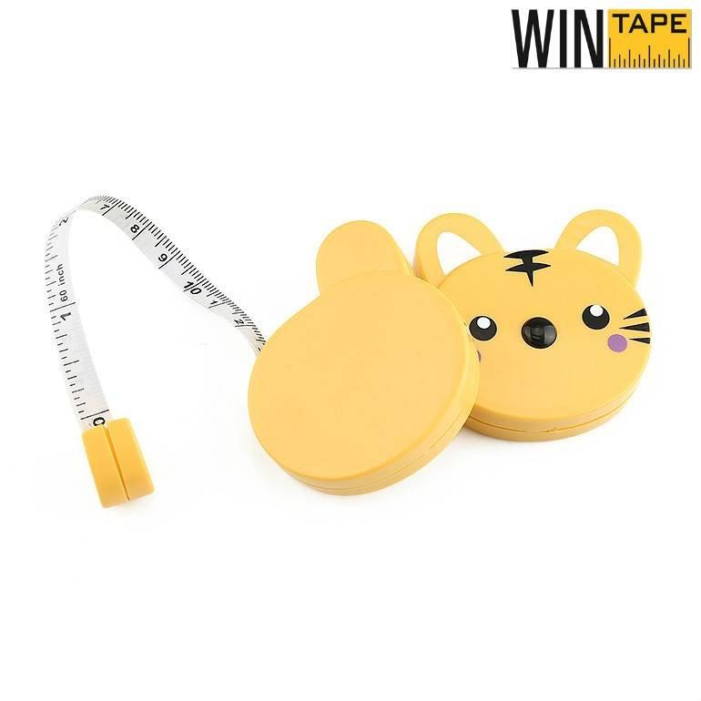 Wintape Cute Lion Shaped PVC Fiberglass Measuring Tape