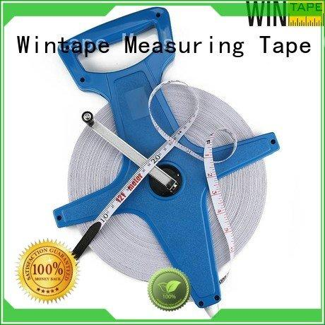 Wintape closedreel measures 100ft surveyors tape 100m surveyors